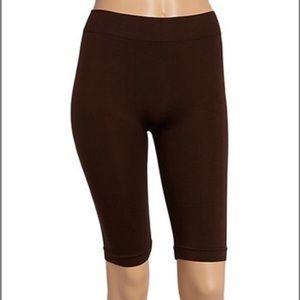 Brown shaper bike shorts small